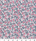 Quilter\u0027s Showcase Cotton Fabric 44\u0027\u0027-Ditzy Packed Floral on Pink