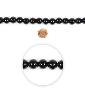 Blue Moon Beads Glass 14mm Black