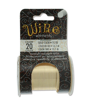 Wire Elements 20 Gauge 15yds Tarnish-Resistant Wire-Gold