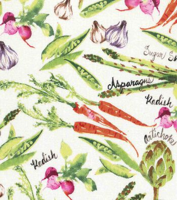 Novelty Cotton Fabric 43''-Spring Vegetables