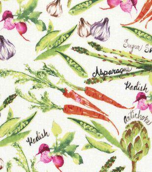 Spring decorations flowers fairy gardens joann novelty cotton fabric 43 spring vegetables mightylinksfo