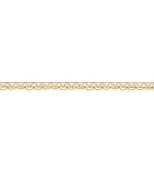 Simplicity Trims-Thread Scallop Waffle Gold