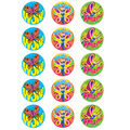 Beautiful Butterflies-Vanilla Stinky Stickers 12 Packs