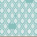 Teal Damask Print Fabric