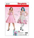 Simplicity Pattern 8127 Misses\u0027 Dresses-Size U5 (16-24)
