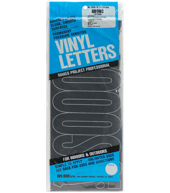Duro Decal 94 Pk 6'' Permanent Adhesive Vinyl Letters-Black
