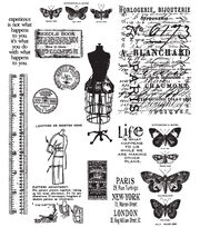 Tim Holtz Large Cling Rubber Stamp Set-Attic Treasures, , hi-res