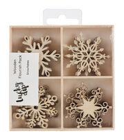Kaisercraft Wooden Snowflake Flourish Pack, , hi-res