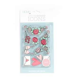 DCWV Home 10 Pack Letter Board Icons-Love