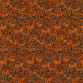 Halloween Cotton Fabric-Pumpkin Patch Orange Glitter