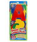 Quick Letter/Number Pads Repositionable With Centering Ruler-Classic Colors Jumbo 4\u0022