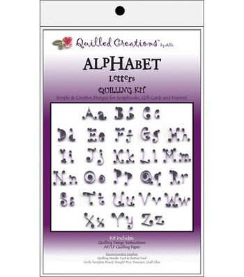 Quilled Creations Quilling Kits-Alphabet Letters