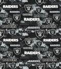Oakland Raiders Cotton Fabric -Distressed