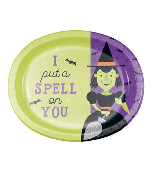 Maker's Halloween 8 pk Platters-Witch