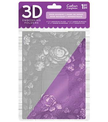 Crafter's Companion 5''x7'' 3D Embossing Folder-Rose Bouquet