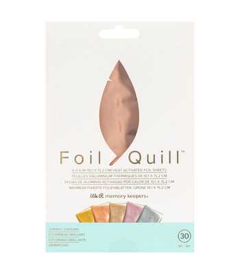We R Memory Keepers Foil Quill 4''x6'' Foil Sheets-Shining Starling