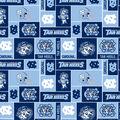 University of North Carolina Tarheels Fleece Fabric -Block