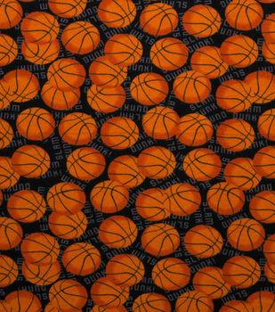 Super Snuggle Flannel Fabric-Slam Dunk Basketballs