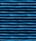 Nursery Flannel Fabric-Construction Stripes