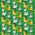 St. Patrick\u0027s Day Cotton Fabric-Glitter Cats