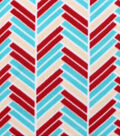 Blizzard Fleece Fabric Staggered Bars
