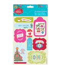 Papermania Folk Christmas 2ct Die-Cut Toppers & Sentiments