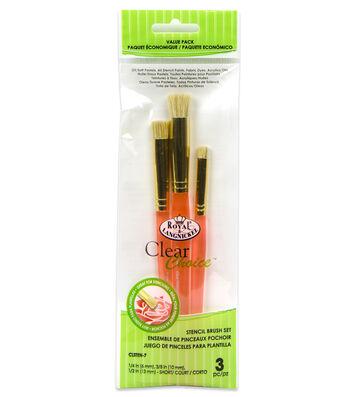 Royal & Langnickel Short Stencil Brush Set 3pk