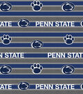 Penn State University Nittany Lions Fleece Fabric -Polo Stripe