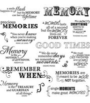 Fiskars Quotes Clear Stamps Good Times, , hi-res