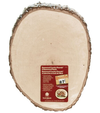 """Walnut Hollow Basswood Country Round Plaque-Approx. 9-11"""" X 0.63"""""""