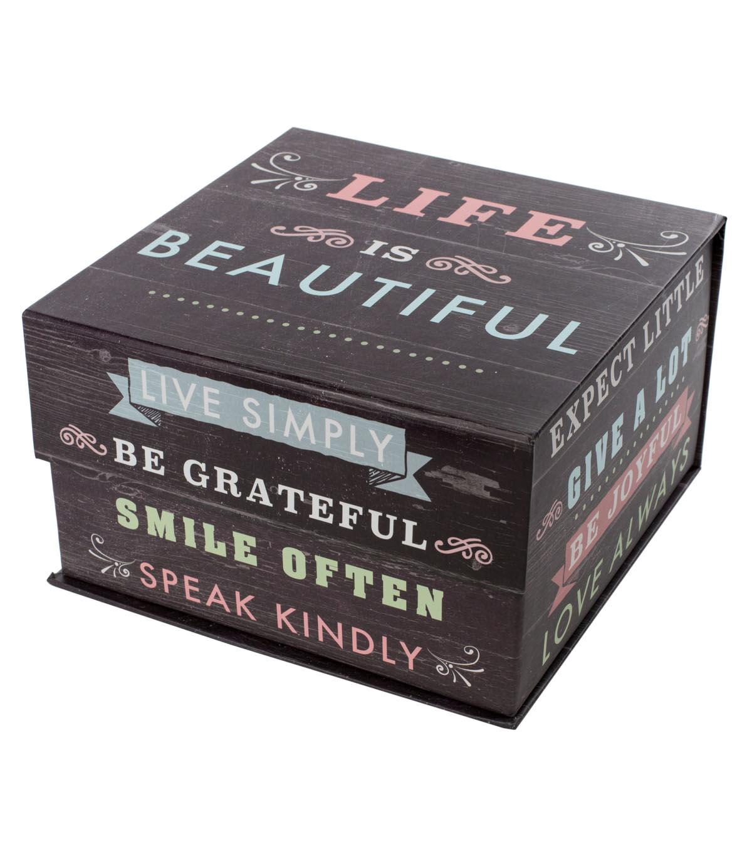 Organizing Essentials™ Large Storage Box Life Quotes