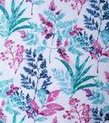 Silky Stretch Chiffon Fabric-Pink Cool Stems