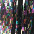 Let\u0027s Pretend Small Linear Sequin Fabric-Purple/Green