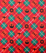 Disney Christmas Star Wars Flannel Fabric-Holiday Plaid, , hi-res