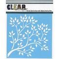 Clear Scraps 6\u0027\u0027x6\u0027\u0027 Plastic Stencil-Tree Branch