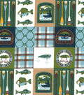 Snuggle Flannel Fabric 42\u0027\u0027-River Fishing
