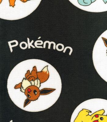 Pokemon Micro Velvet Fleece Fabric -Circle Toss