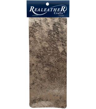 Realeather Crafts 9''x3'' Goat Leather Trim-Platinum Crackle