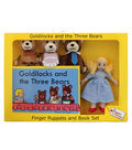 Goldilocks Finger Puppets and Book Set