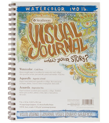 """Strathmore Visual Journal Watercolor 9""""X12""""-22 Sheets"""
