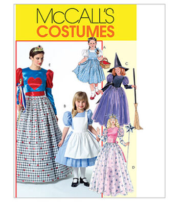 McCall's Pattern M4948-Misses'/Children's/Girls' Storybook Costumes