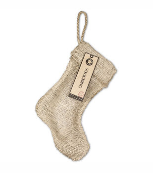 "Burlap Small Stocking 8""X10-1/2""-"