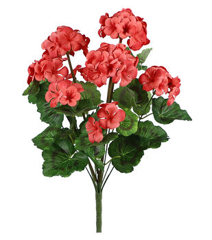 Fresh Picked Spring 20'' Geranium Bush-Coral