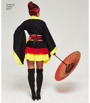 Simplicity Pattern 8317 Misses' Cosplay Kimono Costumes-Size U5 (16-24)