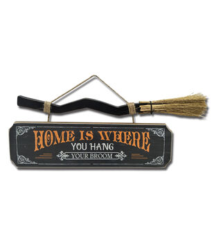 Maker's Halloween Wall Decor-Home is Where You Hang Your Broom