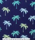 Blizzard Fleece Fabric 59\u0022-Palm Trees On Navy
