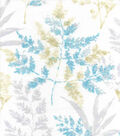 Luxe Flannel Fabric 42\u0022-Blue Tan Leaves