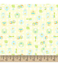 Snuggle Flannel Fabric -Baby Tossed Yellow