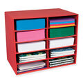 Classroom Keepers 10-Shelf Organizer, Red, 17\u0022H x 21\u0022W x 12-7/8\u0022D