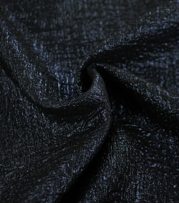 Metallic Textured Jacquard Fabric-Blue